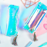 Transparent  Hologram Holographic Laser Bag Makeup Bags Pencil Case Cards WBLUS