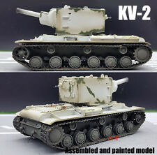 Easy Model KV-2 Russian USSR army soviet winter camouflage 1:72 finished tank