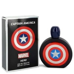 Marvel Captain America Hero 3.4 oz / 100 mL Eau de Toilette Spray - New In Box