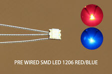 DT1206RB 20pcs Pre-soldered litz wired leads Bi-color RED/BLUE SMD Led 1206 DUAL