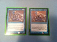 MTG Meditate x2 Magic the Gathering Tempest edition Instant sleeves L@@K NICE!