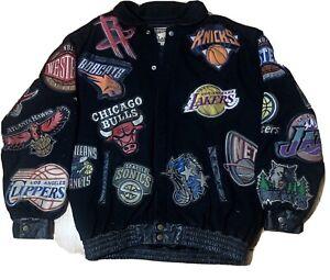 VINTAGE NBA XL LOGO JACKET HARDWOOD CLASSICS