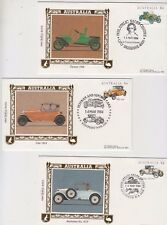 Stamps Australia 1984 vintage cars set of 5 on Benham silk limited edition FDCs
