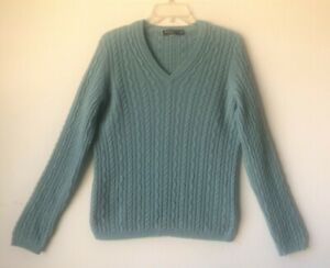 Brooks Brothers Blue Cashmere Rib Knit Pullover Sweater XL