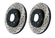 StopTech Slotted & Drilled Sport Rear Brake Rotors for 00-06 Audi TT