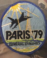19088 Vintage 1979 PARIS F16 Air Military Show PATCH General Dynamics