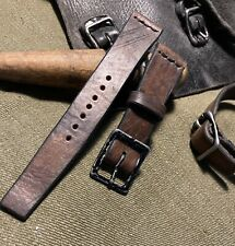 Handmade 20mm  Swiss leather Ammo watch strap.