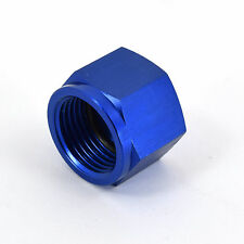 Blue -10 Female AN Flare Fitting Cap 10AN Block Off Aluminum