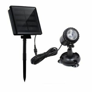 solar fish pond light x 1 with panel and battery