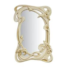 NEW HANDMADE WOODEN CARVED WALL HANGING MIRROR ASH-TREE WOOD HOME INTERIOR DECOR
