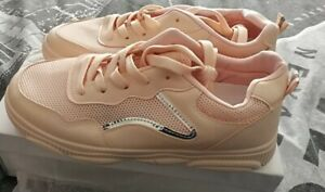 Ladies Womens Light Pink Trainers Size 6. New & Boxed.