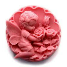 Baby Fairy Smelling Flowers No 2   Silicone Mould