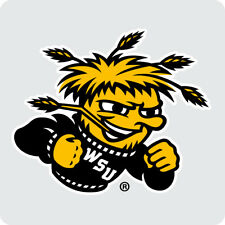 Wichita State Shockers Coasters-NCAA Clear Acrylic Square Coaster 3 Pack