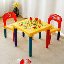 Toddler Child Kid Activity Table Chair Play Toy Set Educational Letter Furniture