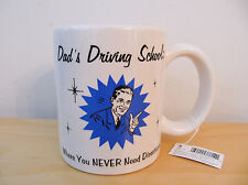 "NEW Russ ""Dad's Driving School"" Ceramic Cup Mug"