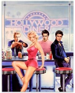 Marilyn Monroe, James Dean, Marlon Brando, Elvis Presley Poster Art Print A4
