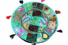 "22"" Indian Bohemian Round Floor Pillow Patchwork Meditation Floor Cushion Cover"