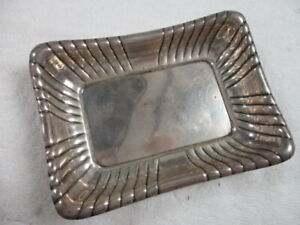 "REED & BARTON WINDSOR  X304 STERLING SILVER TRAY 5x7"" ( Eagle - R - Lion )"
