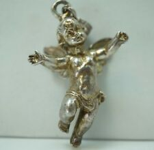 New listing Vintage Sterling Silver Angel Cupid Cherub Ornament Large Necklace Pendant