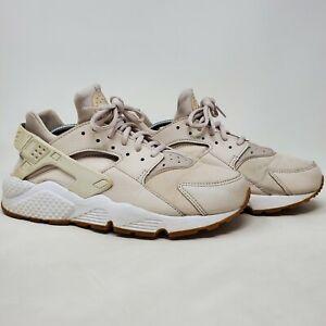 Nike Air Huarache Run 634835-034 Desert Sand Running Shoes Size 9.5 Fits 7.5-8