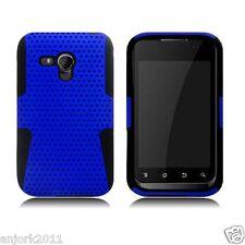 Samsung Galaxy Rush M830 BOOST MESH HYBRID HARD CASE SKIN COVER BLUE B