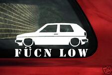 Mk2 golf fukn low sticker.For Vw Golf,GTi, VR6, 8v,16v