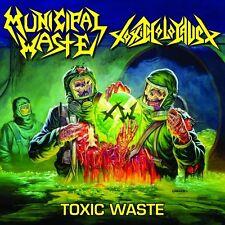 "Municipal Waste / Toxic Holocaust - Toxic Waste 12"" LP Yellow vinyl Thrash Metal"