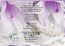 A4 PERSONALISED POEM TO MY DAUGHTER IDEAL FOR FRAMING WE CAN DO ANY COLOUR