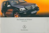 3263MB Mercedes M-Klasse Zubehör Prospekt 2004 5/04 deutsch brochure accessories