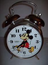 "Vintage Mickey Mouse Lorus Quartz Two Bell Alarm Clock JAPAN 12"" Tall REPAIR"