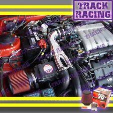 91-99 3000GT GTO DODGE STEALTH VR4 3.0L V6 TURBO Y AIR INTAKE KIT+K&N Black Red