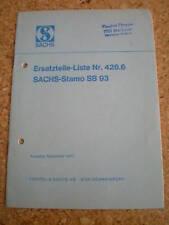 Ersatzteilkatalog Sachs Stamo SB 93 Stand 11/1971