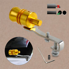 Golden Turbo Sound Fake BlowOff Simulator Car Exhaust Muffler Pipe Whistle L