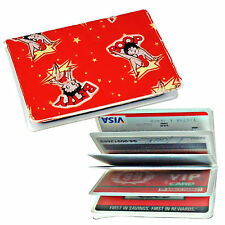Betty Boop Cartoon Rare Vintage Red Credit Card ID Holder Lenticular #BB-102-ID#