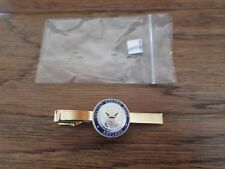 U.S MILITARY NAVY RETIRED TIE BAR OR TIE TAC CLIP ON TYPE ROUND NAVY INSIGNIA