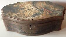 ANCIENNE BOITE METAL ALSA NANCY / LA PASTORALE ECOLE FRANCAISE XVIIIe