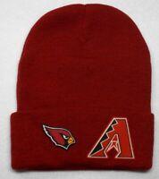 READ ALL!Arizona Cardinals/Diamondbacks Heat Set Flat Logos/ Beanie Knit Cap hat