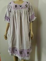 Victorian Era Celebration of Elegance Lavender Butterflies Tunic Dress Size 2XL