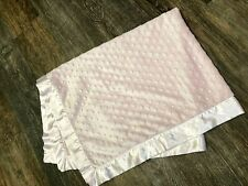 Baby Starters Lovey Security Blanket Plush Pink Satin Minky Dots Girl EXCELLENT