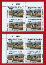 Clearance: (Nj09/09A) 1992 New Jersey Waterfowl Stamp plate block matching set