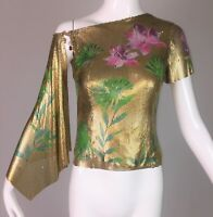 S/S 2000 Gianni Versace Gold Painted Chainmail Metal Runway Top