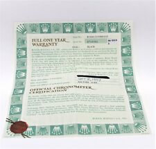 Original Rolex Certificate Submariner Black Dial 16613 (Submariner)
