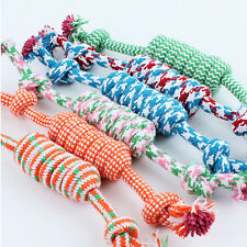 Newly Portable Puppy Dog Pet Toy Cotton Braided Bone Rope Chew Knot Random Color