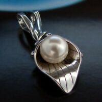 Swarovski Elements® Perle 925 Anhänger Sterlingsilber Damen Schmuck A131