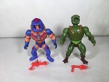 Masters of the Universe Vintage Man-E-Faces MOTU He-Man Kobra Kahn Complete