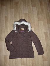 S.OLIVER Winter Jacke Parka Steppjacke mit Fell-Kapuze Braun Gr.40 **TOP**