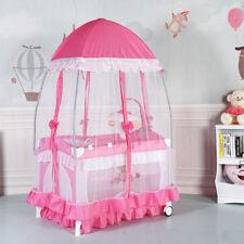 Lit bébé parapluie pliant 2 niveaux muni de moustiquaire yourte et porte-couche