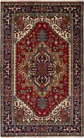 "Hand-Knotted Carpet 5'0"" x 8'2"" Traditional Oriental Wool Area Rug"