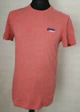 Superdry Men's Pink Coral T-Shirt Short Sleeve Jersey Casual Size Medium- E149