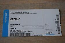 Coldplay - ticket concert au Stade Roi Baudouin - 21-06-2017